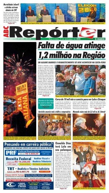 Oswaldo Dias terá Lula em seu palanque - Jornal ABC Repórter