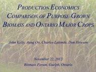 PRODUCTION ECONOMICS COMPARISON OF PURPOSE-GROWN BIOMASS AND ...