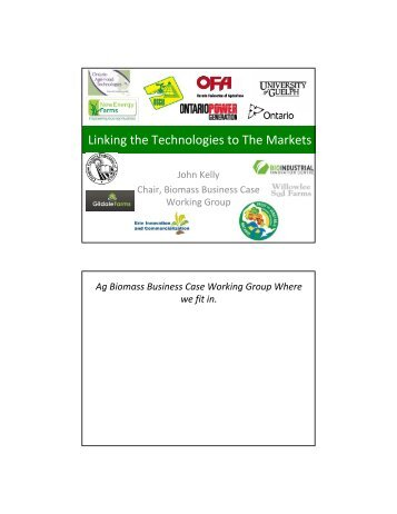 Biomass Working Group Needs - Ontario Federation of Agriculture
