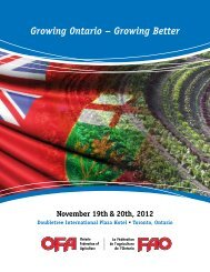 Growing Ontario – Growing Better - Ontario Federation of Agriculture