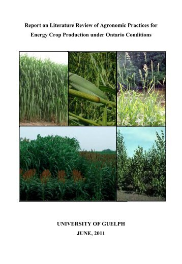 Report on Literature Review of Agronomic Practices for Energy Crop ...