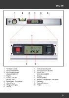 Bedienungsanleitung Digitale Wasserwaage - 416 mm mit HG-Beleuchtung - Seite 3
