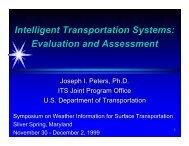 Intelligent Transportation System, Evaluation and Assessment