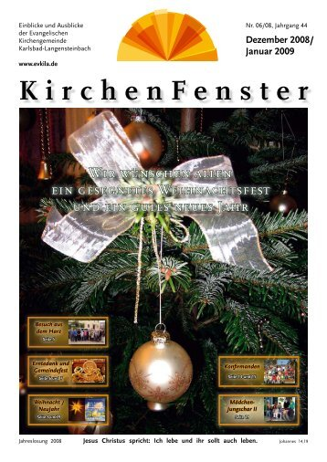 Dezember 2008 - Evangelische Kirchengemeinde Langensteinbach