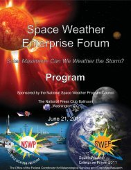 Space Weather Enterprise Forum - Office of the Federal Coordinator ...