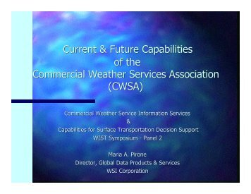 Current & Future Capabilities of the Commercial Weather Services ...
