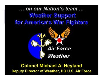 Weather Support for America's War Fighters - Office of the Federal ...