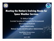 Meeting the Nation's Evolving Needs for Space Weather Services