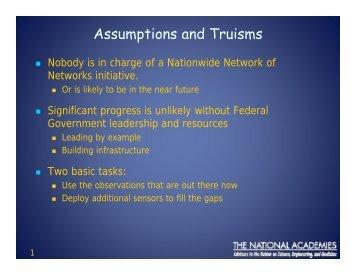 Assumptions and Truisms