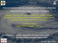 Tropical Cyclone intensity Estimation and Formation Detection using ...