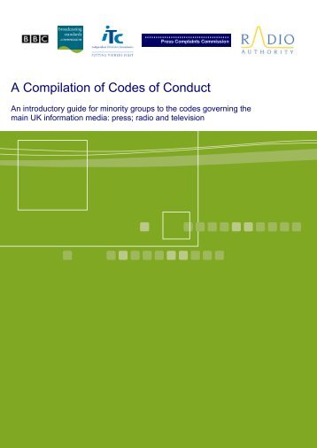 A Compilation of Codes of Conduct - Ofcom