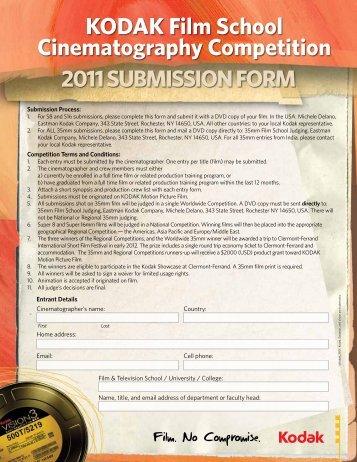 KODAK Film School Cinematography Competition 2011 ...