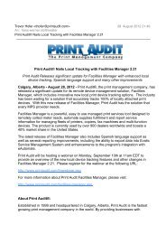 Print Audit® Nails Local Tracking with Facilities ... - Off-script.com
