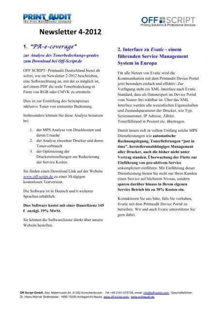 Newsletter 4-‐2012 - Off-script.com