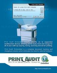 Print Audit Embedded installs directly on to ... - Off-script.com