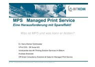 MPS-Managed Print Service-eine Herausforderung mit ... - Bitkom