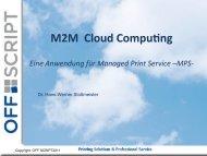 M2M Cloud Compu,ng Eine Anwendung für ... - Off-script.com