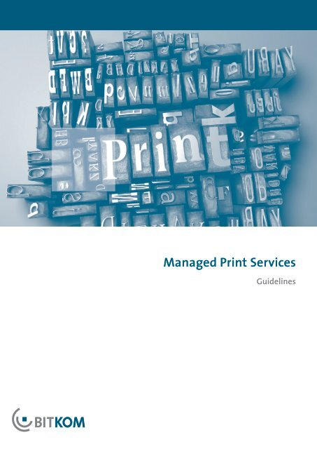 Guideline Managed Print Services of BITKOM - Off-script.com