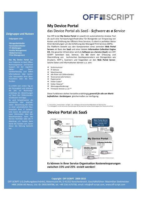 My Device Portal Device Portal als SaaS - Off-script.com