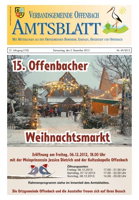 Offenbach Weihnachtsmarkt.15 Offenbacher Weihnachtsmarkt Verbandsgemeinde Offenbach