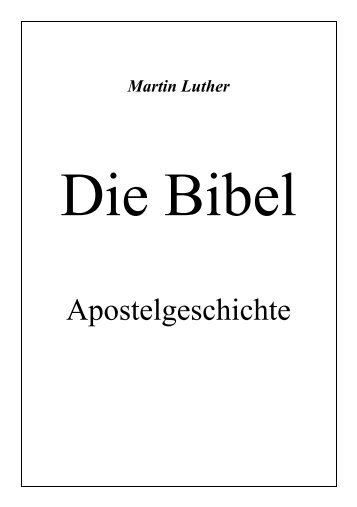 Apostelgeschichte - Offenbarung