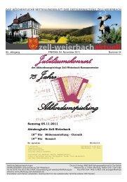 Jubiläumskonzert 75 Jahre Akkordeonspielring - Zell-Weierbach