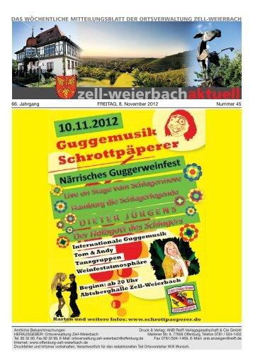 Mitteilungsblatt kw 45-2012.pdf - Zell-Weierbach