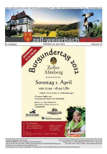 Mitteilungsblatt kw 13-2012.pdf - Zell-Weierbach
