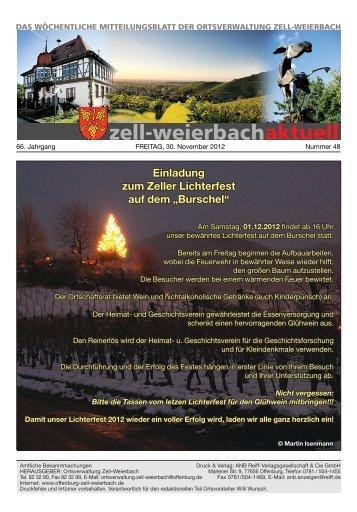 Mitteilungsblatt kw 48-2012.pdf - Zell-Weierbach