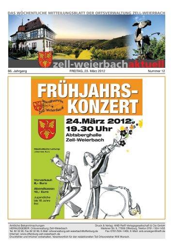 Mitteilungsblatt kw 12-2012.pdf - Zell-Weierbach