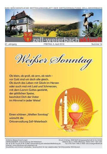 Mitteilungsblatt kw 14-2013.pdf - Zell-Weierbach