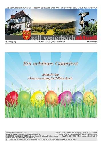 Mitteilungsblatt kw 13-2013.pdf - Zell-Weierbach