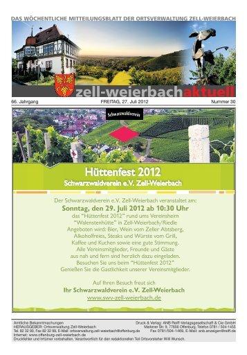 Mitteilungsblatt kw 30-2012.pdf - Zell-Weierbach