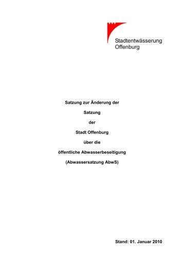 Abwassersatzung - Stadt Offenburg