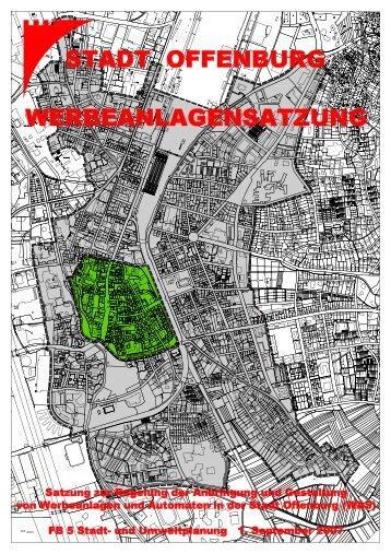 Werbeanlagensatzung - Stadt Offenburg