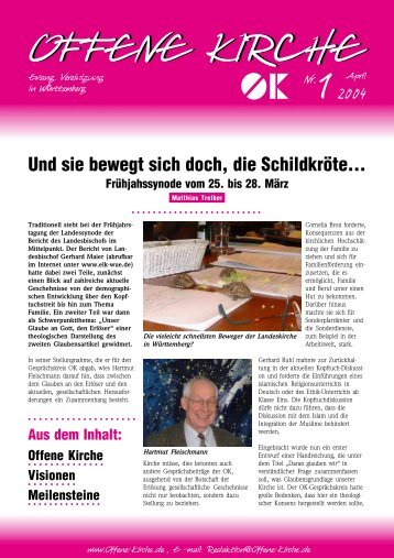 Heft 1/2004 - Offene Kirche Württemberg