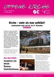 Heft 4/2003 - Offene Kirche Württemberg