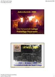 2008 Jahresbericht INTERNET GV 09 - Freiwillige Feuerwehr Lemgo