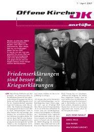 Heft 1/2007 - Offene Kirche Württemberg