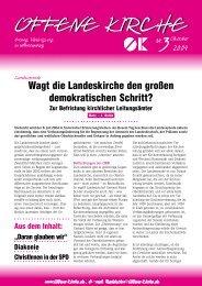 Heft 3/2004 - Offene Kirche Württemberg