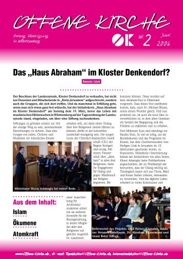 Heft 2/2006 - Offene Kirche Württemberg