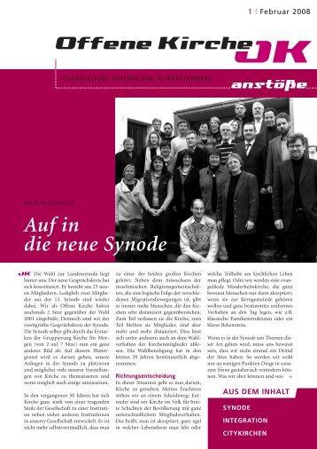 Heft 1/2008 - Offene Kirche Württemberg