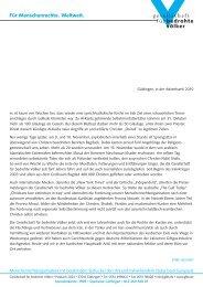 Begleitbrief der Gesellschaft für bedrohte Völker e.V. - Offene Kirche ...