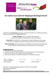 Ein starkes Team steht für Göppingen/Geislingen bereit!