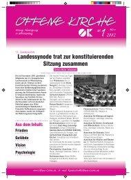 Heft 1/2002 - Offene Kirche Württemberg