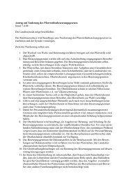 Antrag auf Änderung des Pfarrstellenbesetzungsgesetz