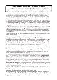 Schorndorfer Wort zum Gerechten Frieden - Offene Kirche ...