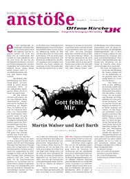 Anstöße 3/201 - Offene Kirche Württemberg