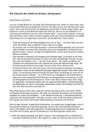 Die Zukunft der Arbeit im dritten Jahrtausend - Offene Kirche ...