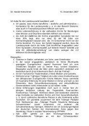 Dr. Harald Kretschmer 15. Dezember 2007 Ich habe für die ...